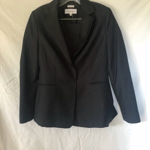 Calvin Klein charcoal gray suit with pin stripes